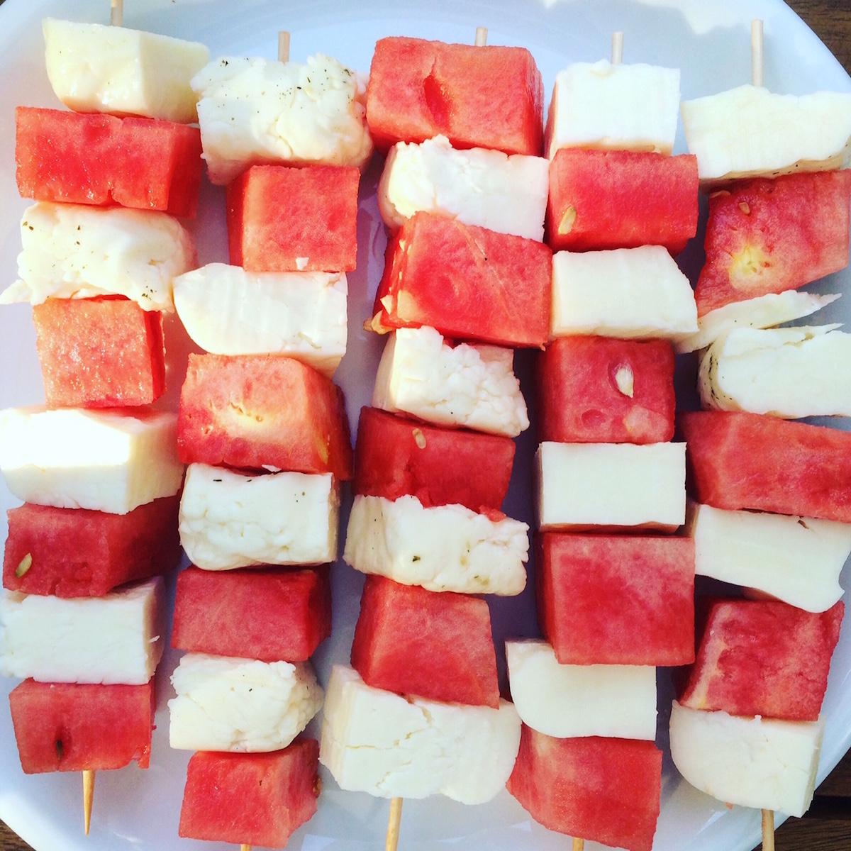 halloumi-wassermelonen-spieße