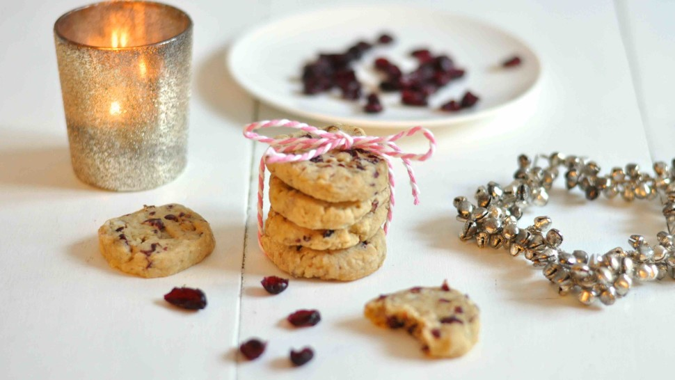 Weihnachtskekse gesund mit Cranberries